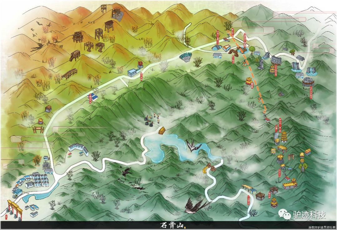 LVJI Technology makes hand-drawn map for